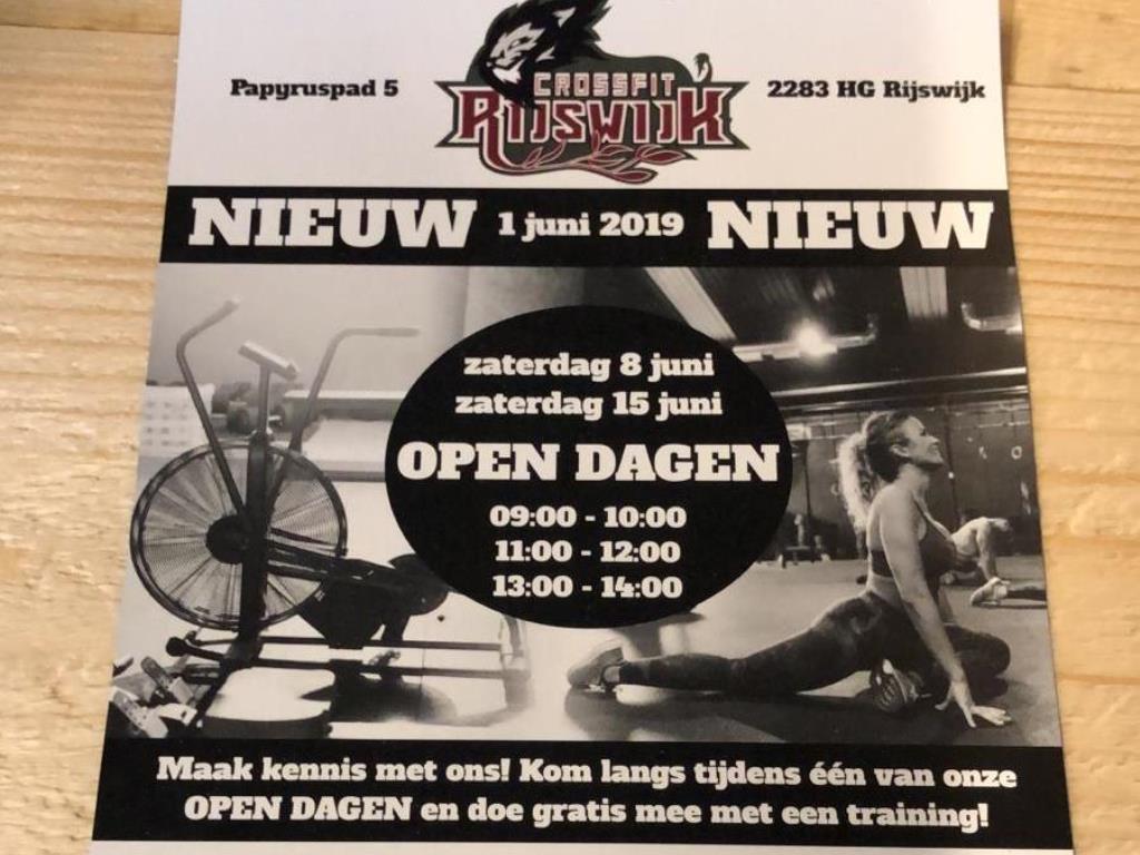 CrossFit Rijswijk Open dagen juni 2019 hoofdfoto