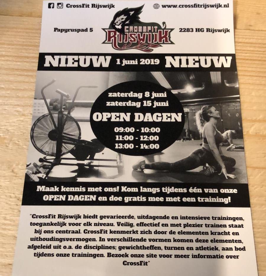CrossFit Rijswijk Open dagen juni 2019