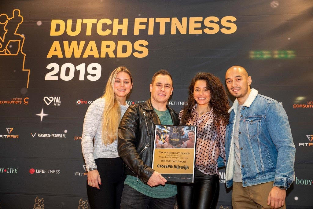 CrossFit Rijswijk - Dutch Fitness Awards foto met Faya Lourens 22 november 2019