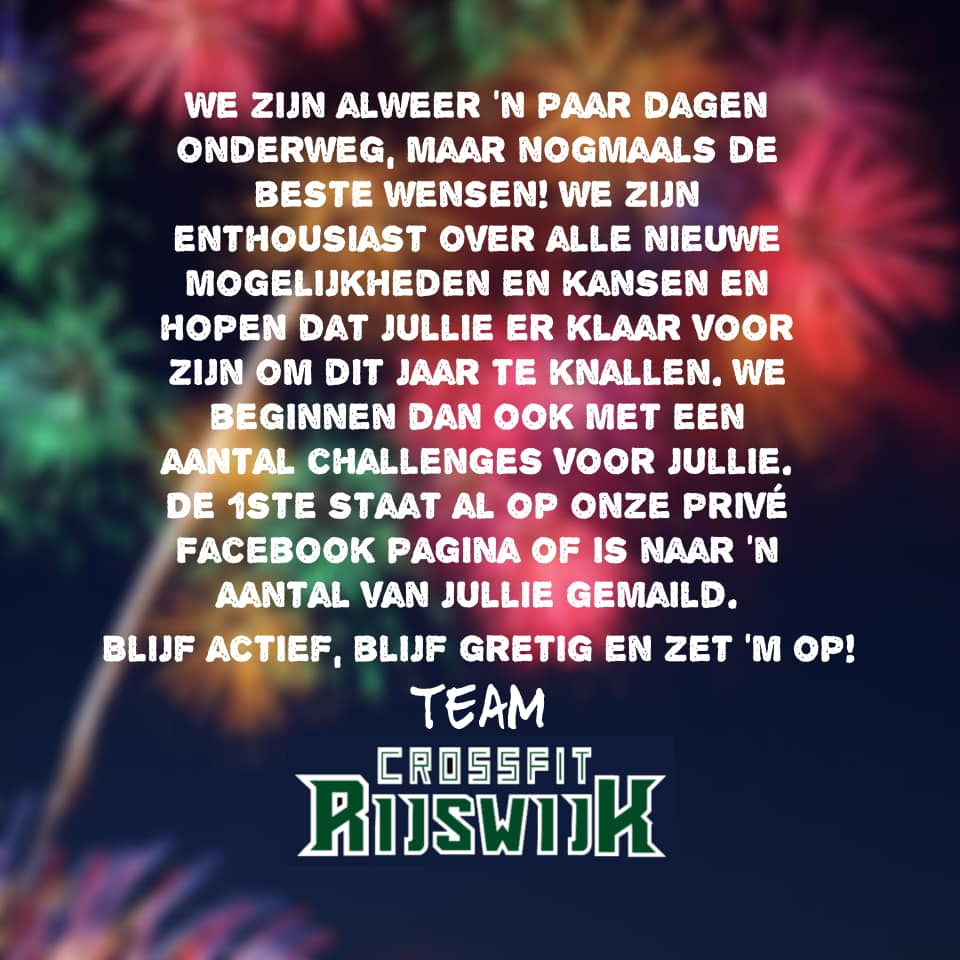 CrossFit Rijswijk - 2021 een jaar vol kansen